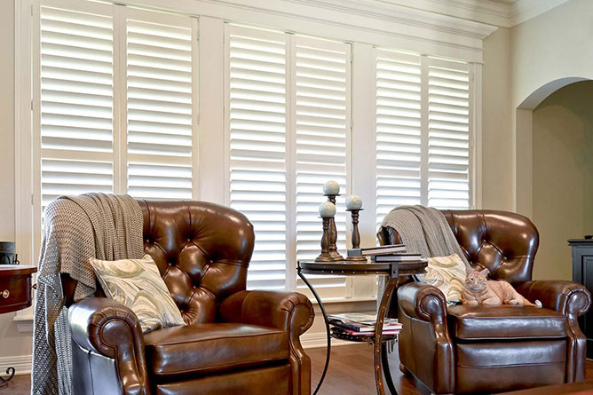 Signature Shutters in a sitting room